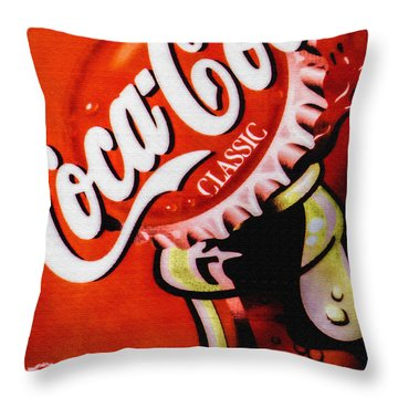 Coca Cola Classic Throw Pillow