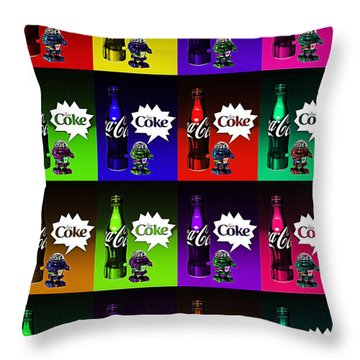 Throw Pillow featuring the photograph Coca-cola Forever Young 13 by James Sage