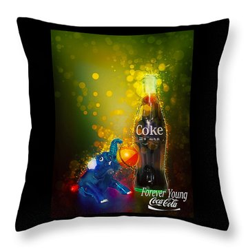 Throw Pillow featuring the photograph Coca-cola Forever Young 3 by James Sage