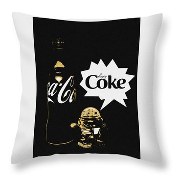 Throw Pillow featuring the photograph Coca-cola Forever Young 7 by James Sage