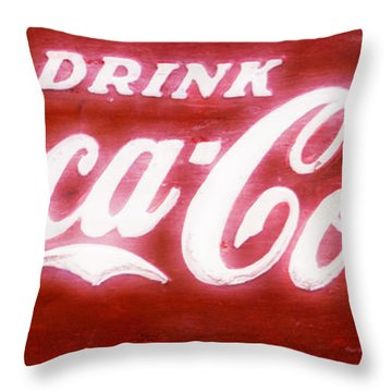 Coca Cola Throw Pillow by Heidi Smith