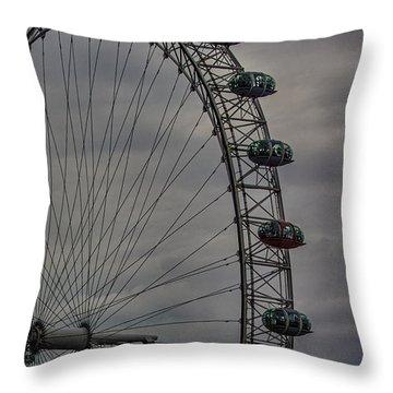 Coca Cola London Eye Throw Pillow by Martin Newman