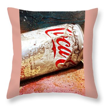 Throw Pillow featuring the photograph Coca Cola On The Rocks By Mike-hope by Michael Hope