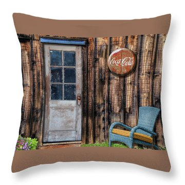 Throw Pillow featuring the photograph Coca Cola by Paul Wear