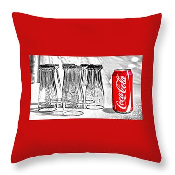 Coca-cola Ready To Drink By Kaye Menner Throw Pillow