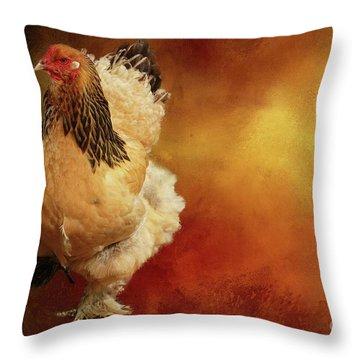 Cochin Chicken Throw Pillow