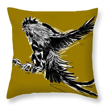 Cock Bw II Transparant Throw Pillow