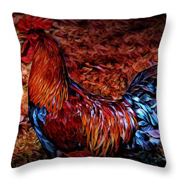 Cock Rooster Throw Pillow