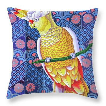 Cockatoo Throw Pillow by Jane Tattersfield