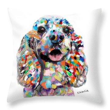 Cocker Spaniel Head Throw Pillow