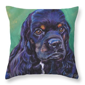 Cocker Spaniel Head Study Throw Pillow by Lee Ann Shepard
