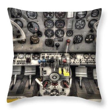 Cockpit Throw Pillow