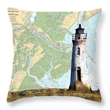 Cockspur On Navigation Chart Throw Pillow