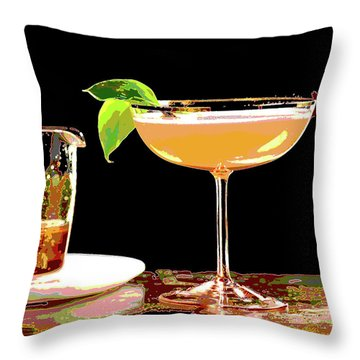 Cocktail And Dreams Throw Pillow by Charles Shoup