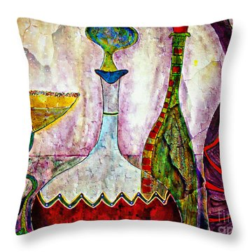 Cocktail And Wine Throw Pillow