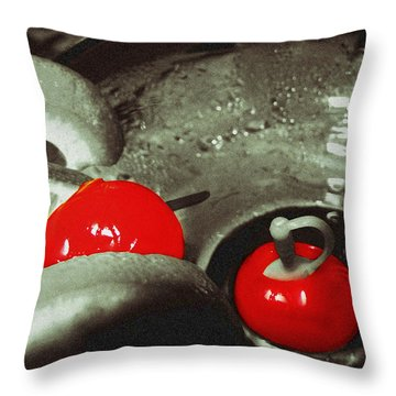 Cocktail Cherries Throw Pillow