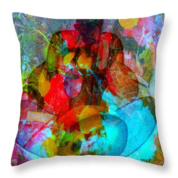 Cocktail Throw Pillow by Fania Simon