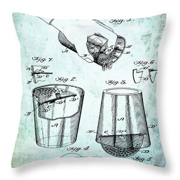 Cocktail Mixer Patent 1903 In Dirty Paper Throw Pillow
