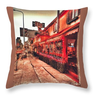 West Los Angeles Cocktail Row Throw Pillow