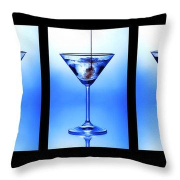Cocktail Triptych Throw Pillow
