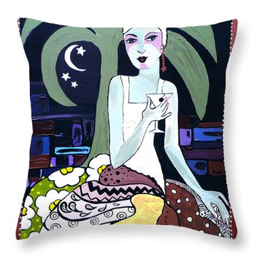 Cocktails And Laughter  Throw Pillow