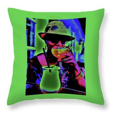 Cocktails Anyone Throw Pillow by Diana Dearen
