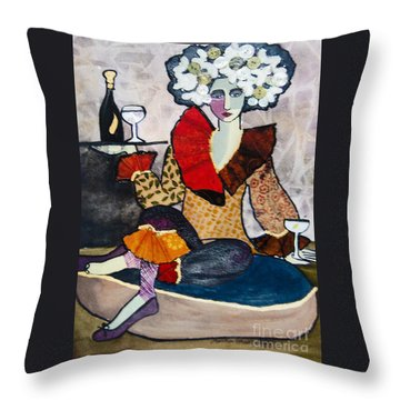 Cocktails, Anyone? Throw Pillow