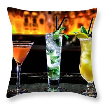 Cocktails Collection Throw Pillow