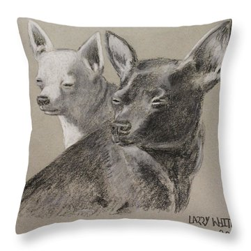 Coco And Rudy Throw Pillow