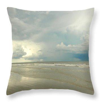 Coco Beach Throw Pillow by Raymond Earley