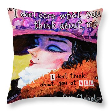 Coco Chanel Throw Pillow