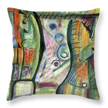 Coco Palm Throw Pillow