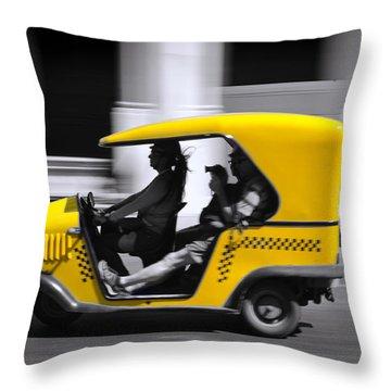 Coco Taxi Throw Pillow