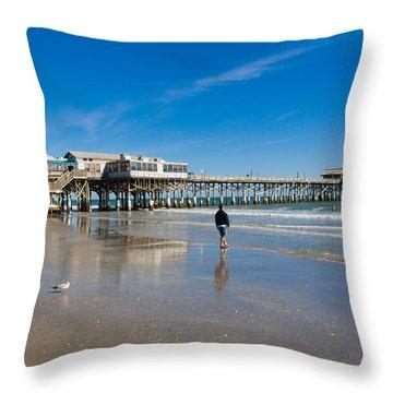 Cocoa Beach Florida Throw Pillow by Allan  Hughes