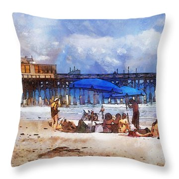 Cocoa Beach Pier Throw Pillow