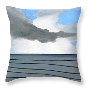 Throw Pillow featuring the painting Cocoa Beach Sunrise 2016 by Dick Sauer