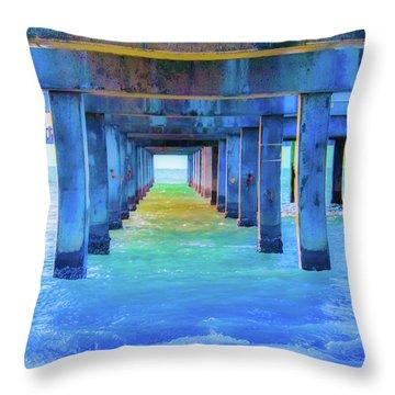 Cocoa Pier Throw Pillow