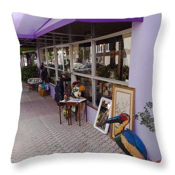 Cocoa Village In Florida Throw Pillow by Allan  Hughes