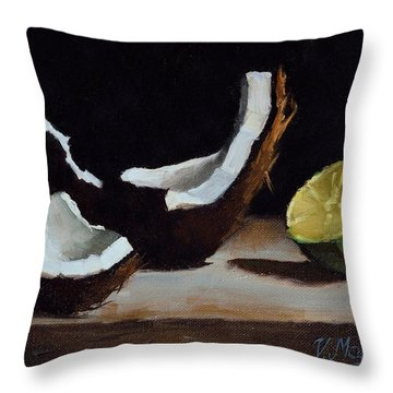 Coconut And Lime Throw Pillow