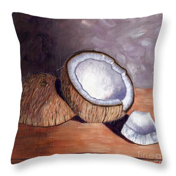 Coconut Anyone? Throw Pillow