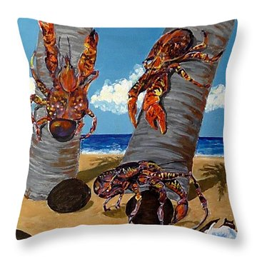 Coconut Crab Cluster Throw Pillow
