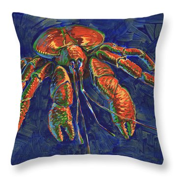 Coconut Crab Throw Pillow