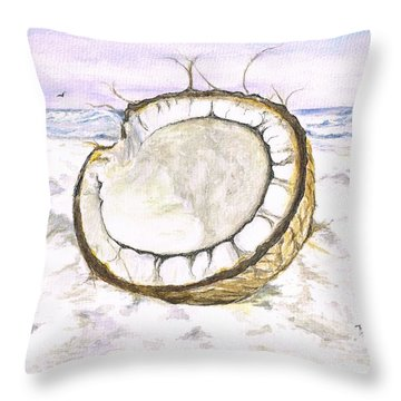 Coconut Island Throw Pillow by Teresa White