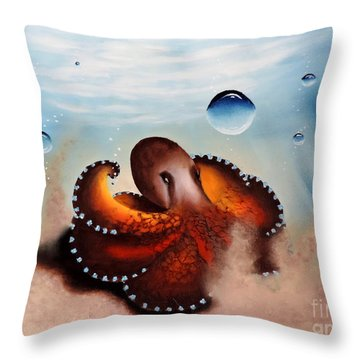 Coconut Octopus Throw Pillow
