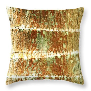 Coconut Palm Bark 2 Throw Pillow by Brandon Tabiolo - Printscapes