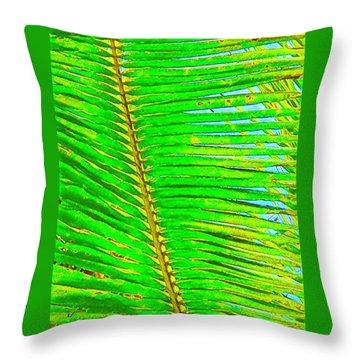 Coconut Palm Leaf Aloha Throw Pillow