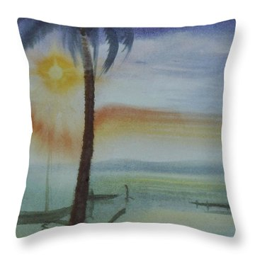 Coconut Palm Throw Pillow