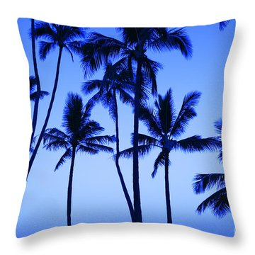 Coconut Palms At Dawn Throw Pillow by Dana Edmunds - Printscapes