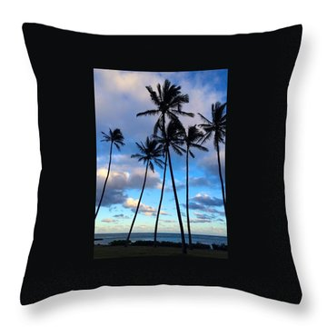 Throw Pillow featuring the photograph Coconut Palms by Brenda Pressnall