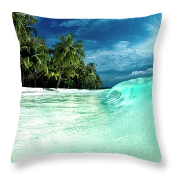 Coconut Water Throw Pillow
